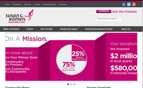 Susan G. Komen Northwest Ohio Launches New Website